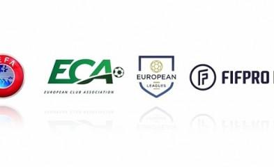 новость УЕФА, Ассоциация европейских клубов, Европейские лиги и FIFPRO Europe подписали резолюцию о влиянии COVID-19 на соревнования